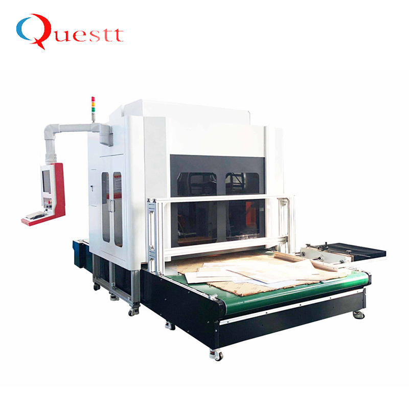 3d dynamic co2 laser marking machine price for paper wood leather plastic