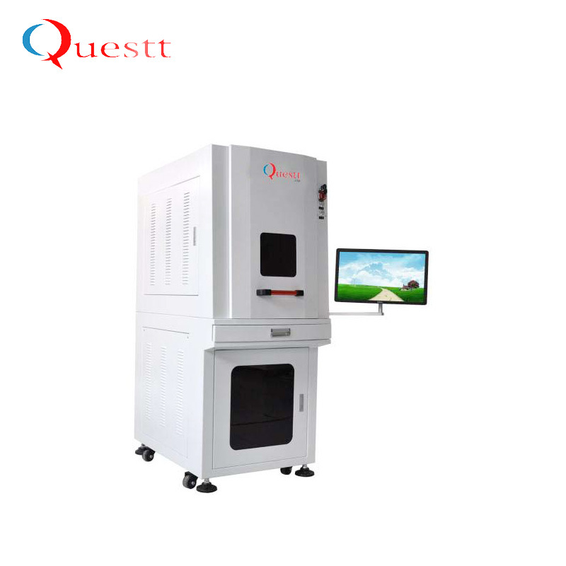 355nm 5w UV laser marking printing machine for glass PCB crystal etc