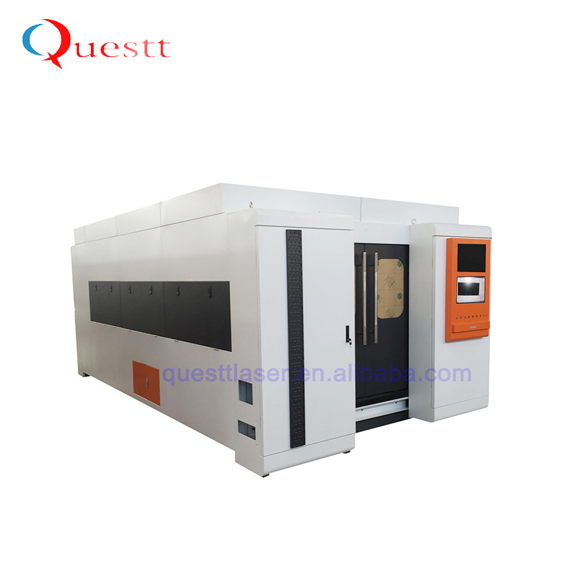 product-QUESTT-High Power 3kW Enclosed Fiber Laser Cutting Machine For Metal-img