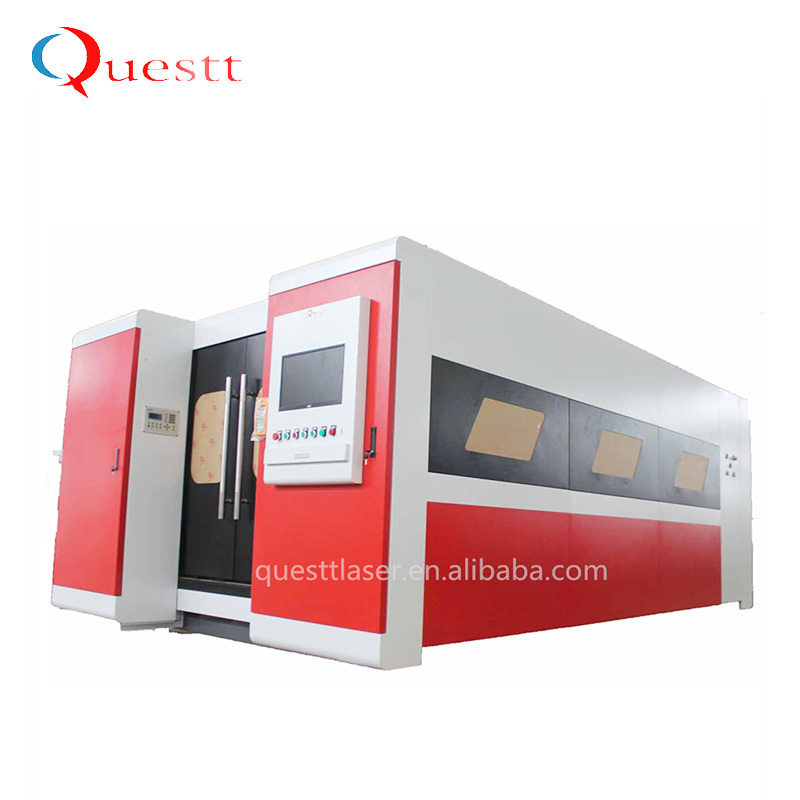 High Power 3kW Enclosed Fiber Laser Cutting Machine For Metal
