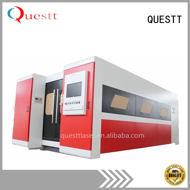 QUESTT computer control laser metal cutting machine supplier for remove the surface material