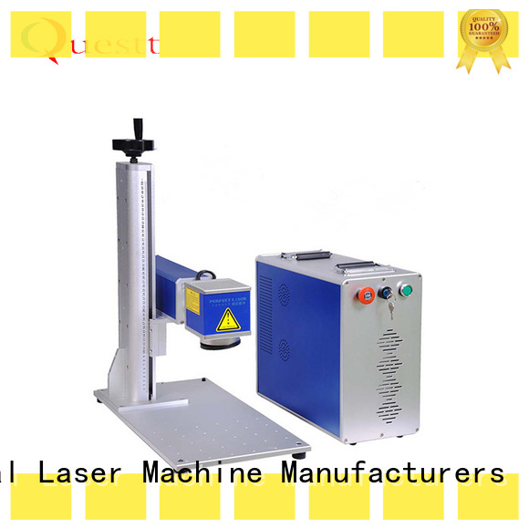 QUESTT simple operation fiber laser marking machine price china factory for laser marking industry