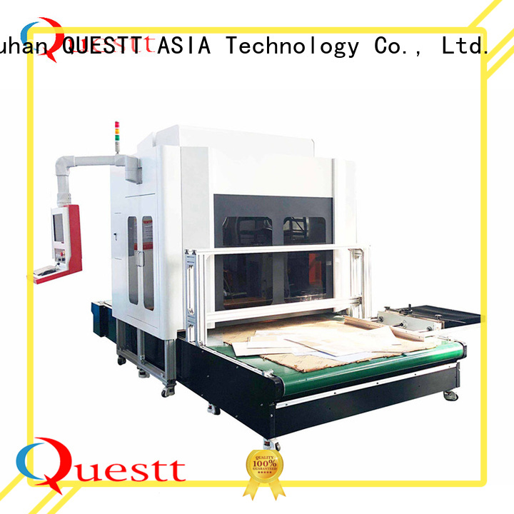 QUESTT widely use 3d laser cutter engraver Supply for clothing plate making