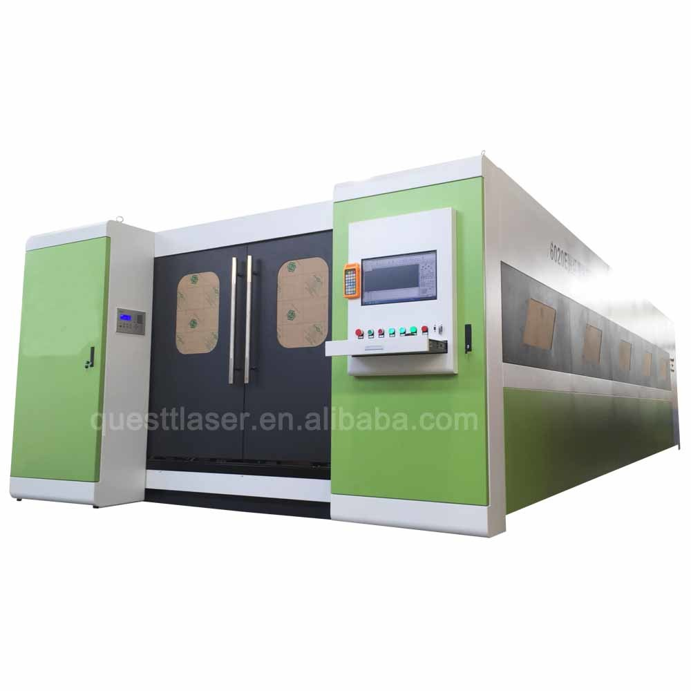 1500watta Metal Sheet Fiber Laser Cutting Machine with Pallet Changer laser cutter Factory Price