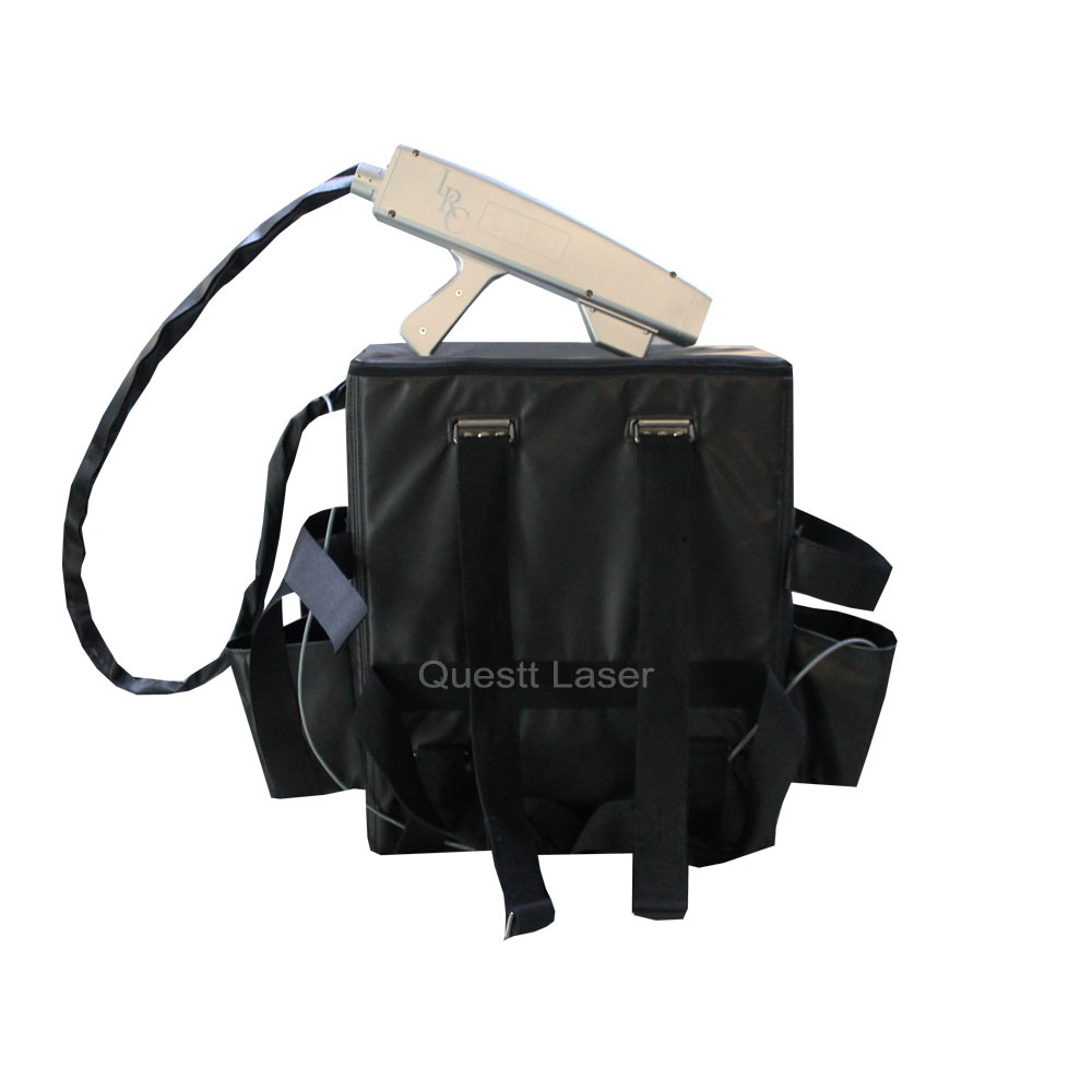 product-QUESTT-Factory Price Metal Rust Removal 100W Backpack Laser Cleaning Machine-img