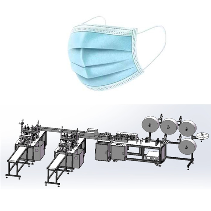 Flat Disposable Mask Production Line Full Automation