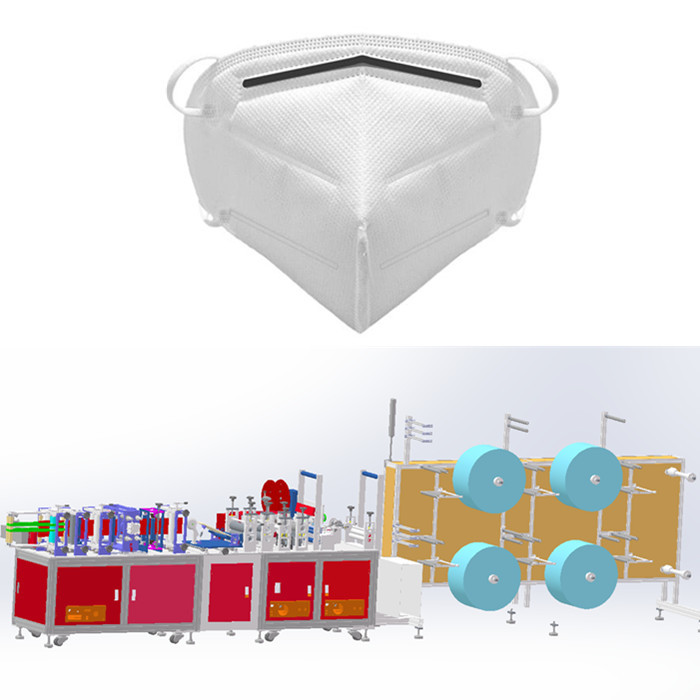 Semi-Auto Fold Mask Making Machine System