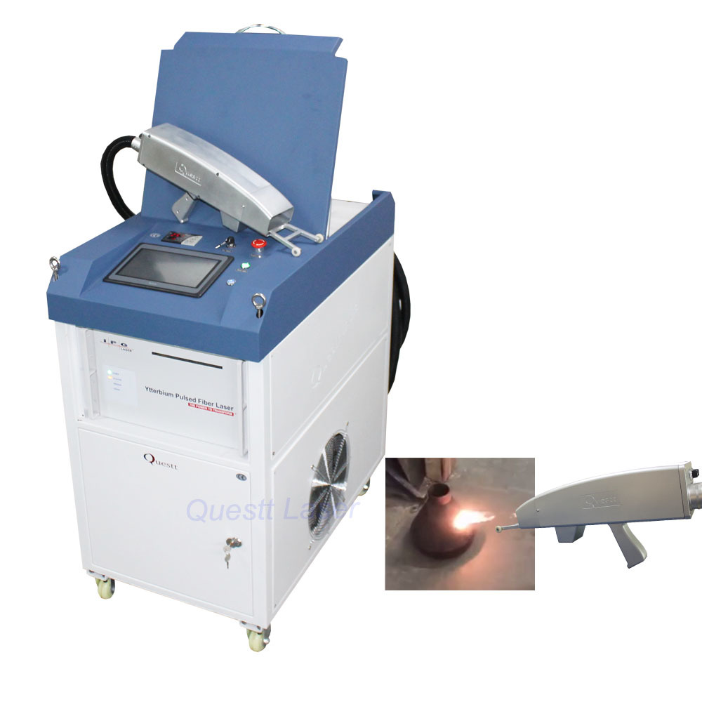 High power 1000W 500W laser cleaning machine IPG RAYCUS metal rust removal cleaner