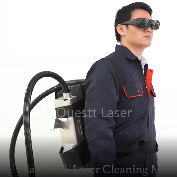 50W Backpack Fiber Laser Cleaning Machine