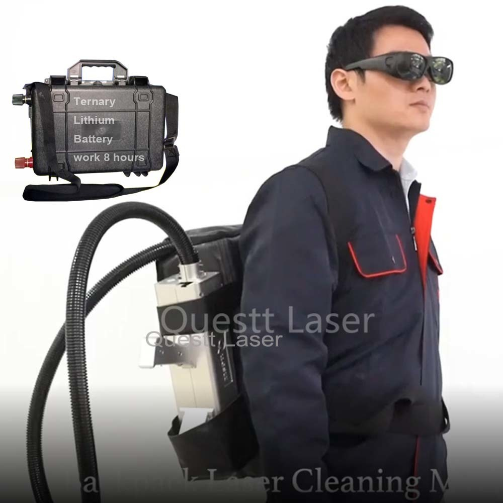 Ternary Lithium Battery Backpack Laser rust removal machine for cleaning Outdoors 8 Hours