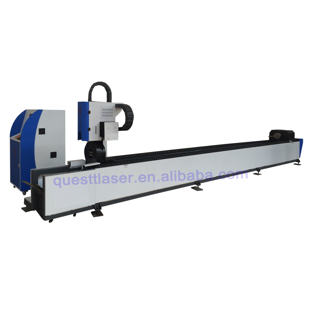 CNC high precision heavy industrial metal pipe and tube fiber laser cutting machine