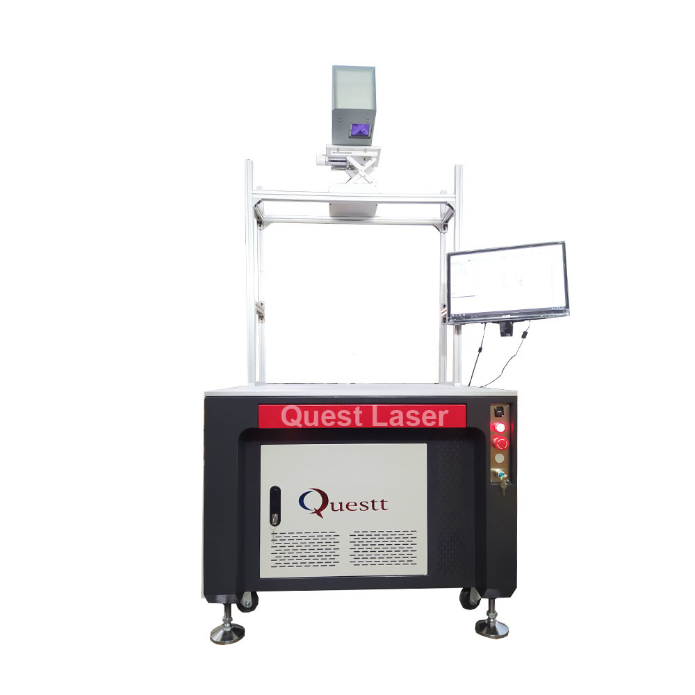 Large Size Working Area 3d dynamic focusing fiber laser marking machine wIth Automatic Lifting And Focus Instruments