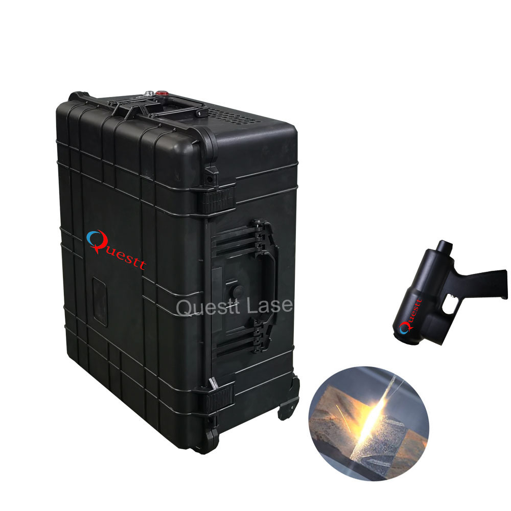 100W 200W fiber Laser Cleaning Machine Metal Rust Oxide Painting Coating Graffiti Removal Laser Machine