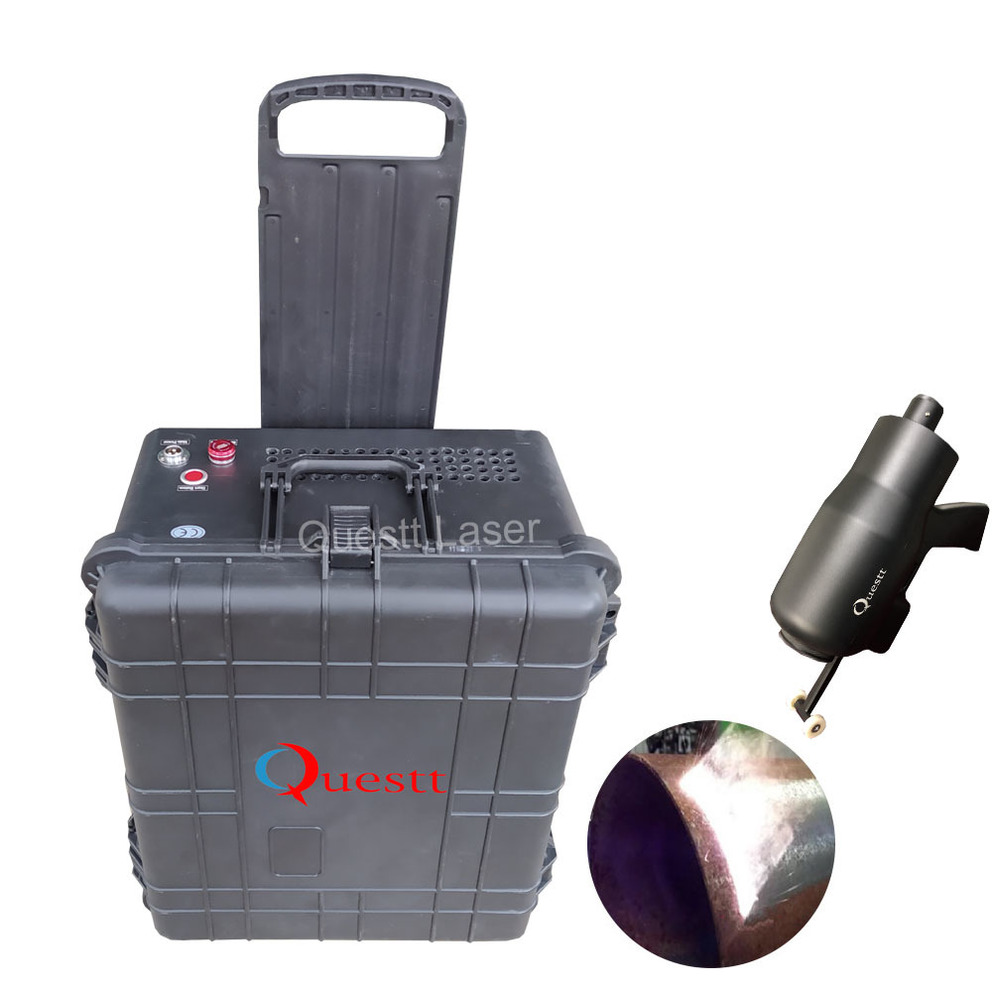 100w suitcase laser cleaning with timer function