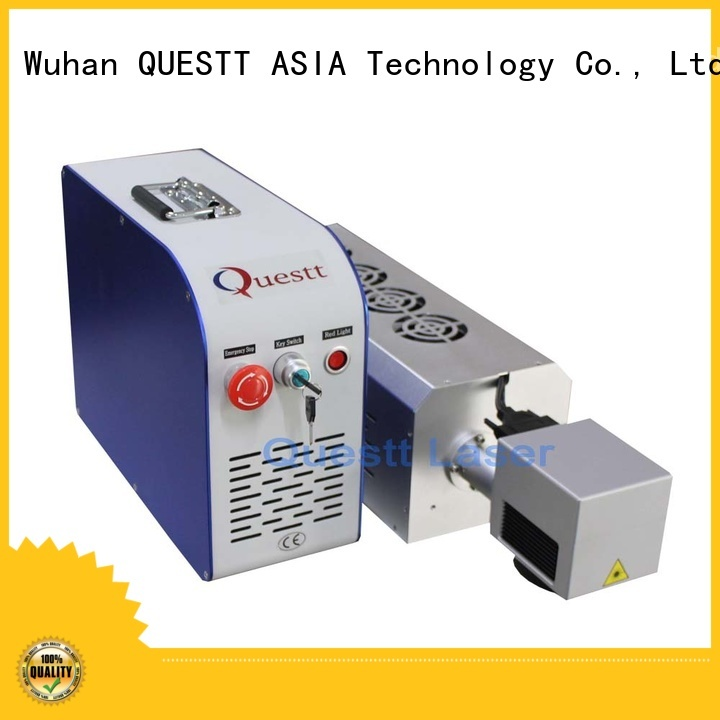 QUESTT stable running laser marking device company for anti-counterfeiting of products